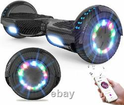 Self-balancing Electric Scooter with Bluetooth Speaker, LED lights